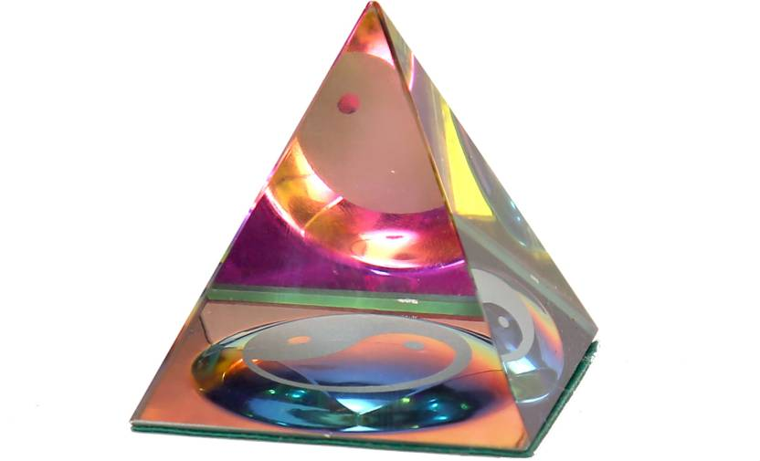Bgroovy Multicolor Pyramid Showpiece  -  5 cm