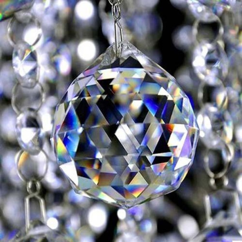Lots Clear Crystal Rainbow Sun Catcher Feng Shui Lamp Ball Home Car Decor Prism