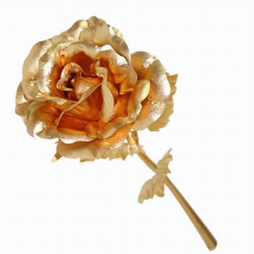 Jem Jewellers 24 Carat Gold Dipped Rose Decorative Showpiece 26 Cm