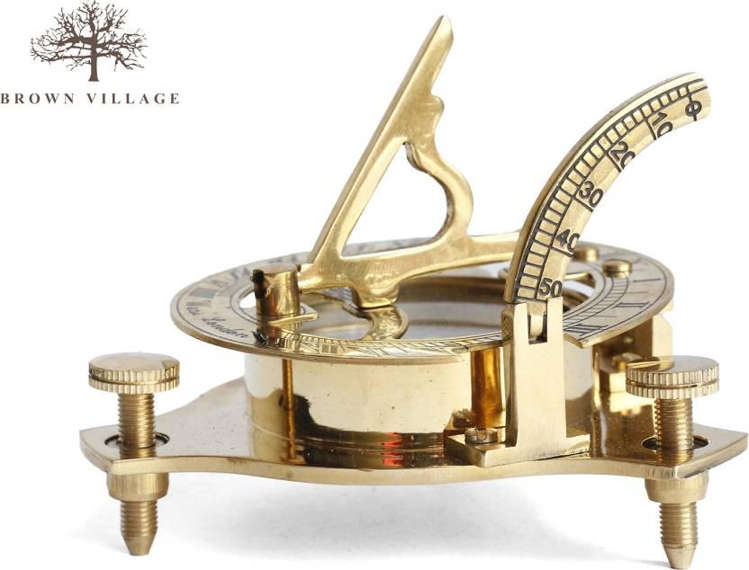 Brown Village Engineering Scale & Compass Showpiece  -  2 cm