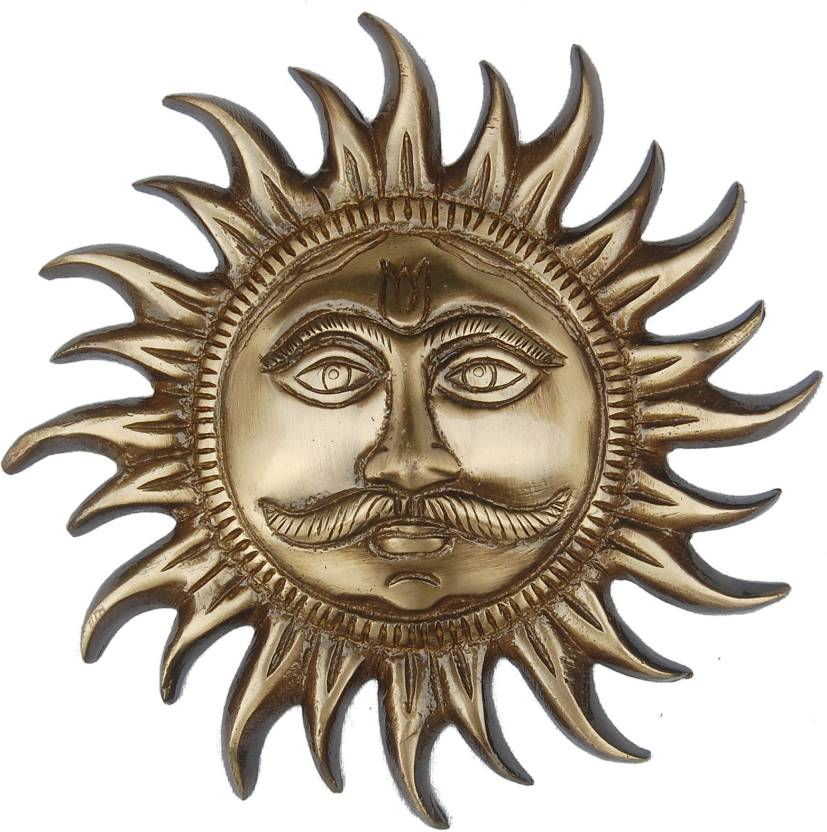 Aakrati Rare Sun Face Statue Decorative Showpiece  -  18 cm