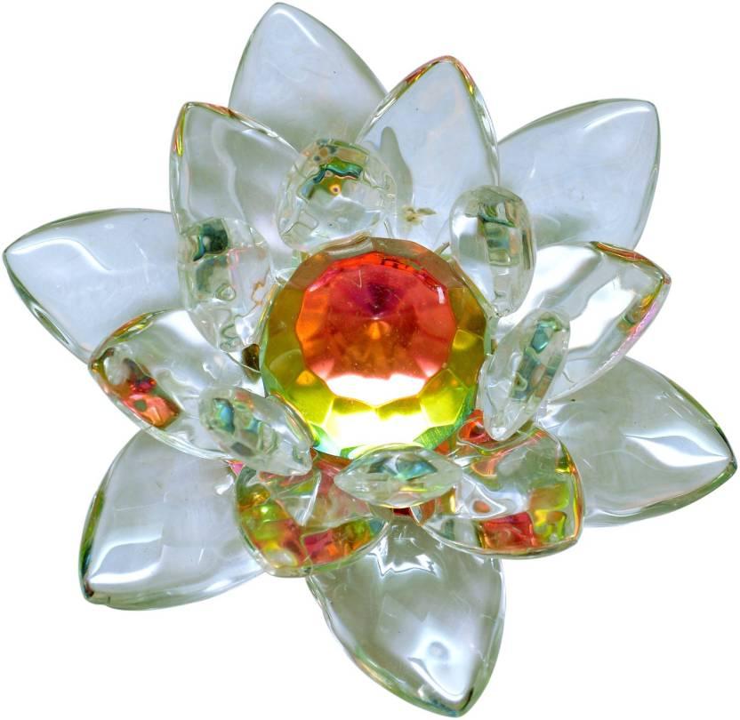 Vastu Art Vastu Feng Shui Small Crystal Lotus Decorative