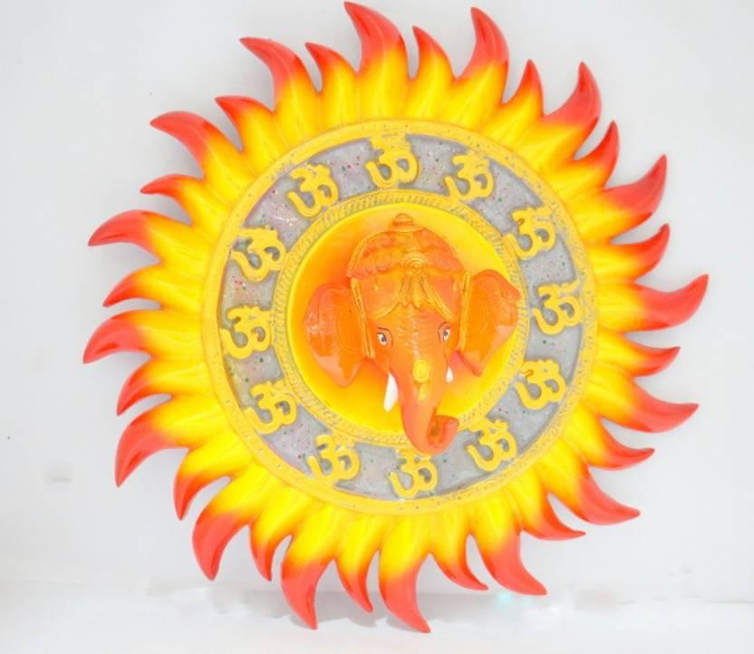 Moksha Surya Ganesh Wall Hanging Decorative Showpiece - 22 cm Price ...