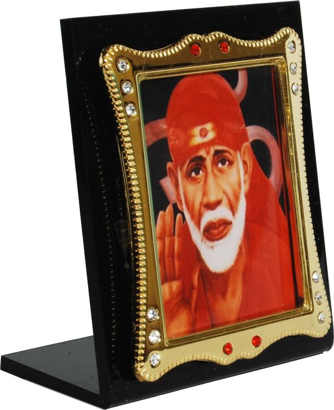 Sigarma Sai Baba Idol Frame For Car Dashboard Office Desk Table
