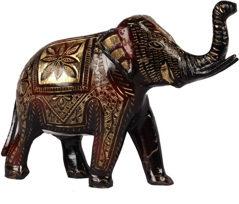 Poompuhar Brass Elephant Decorative Showpiece 15 Cm Price In India