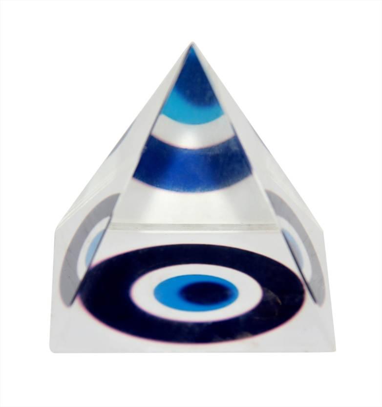 Vashoppee Vastu / Feng Shui / Evil Eye Crystal pyramid For Removing  Negative Energy Decorative Showpiece - 5 cm