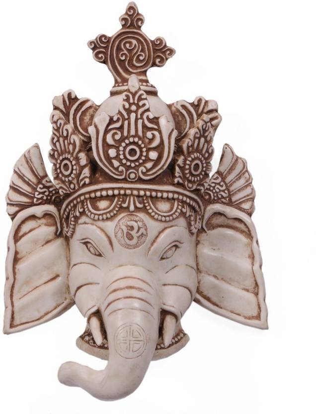 Collectible India 10 Large Hindu God Ganesha Wall Hanging Mask