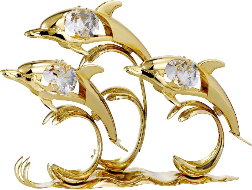 9ba123f4d8ded Gold n Gem Dolphin Triple 24k Gold Plated Gift Studded With ...