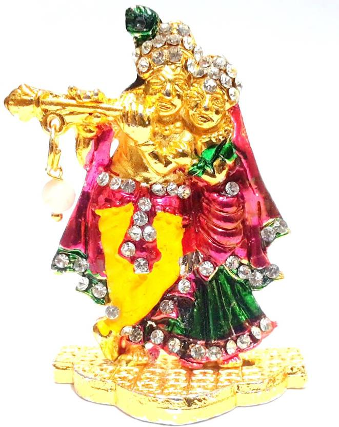 4161d1923 Ratna Handicrafts Radha Krishna Stone Studded Moti Idol Decorative  Showpiece - 5.3 cm (Gold Finish