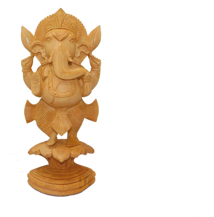 Wooden Handicrafts Ganesha Standing On Snake Ganesha Decorative