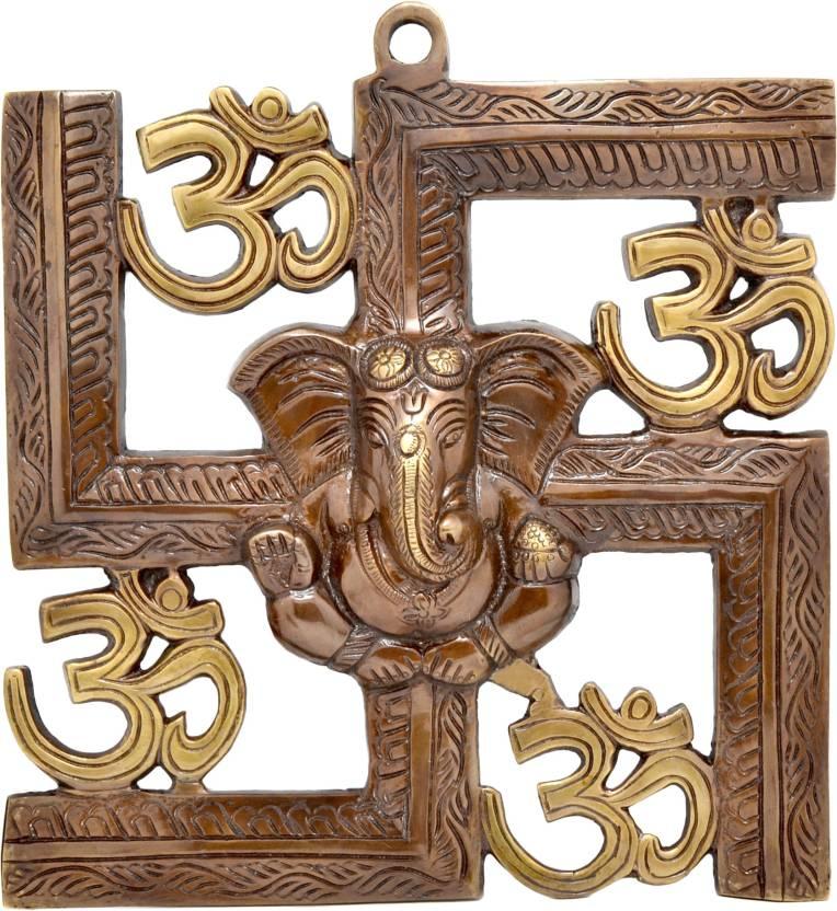 Handecor Swastika Om Ganesha Wall Hanging Showpiece 22 5