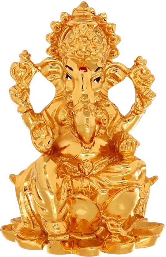 spargz cute ganesh gold murti decorative showpiece 7 5 cm price in