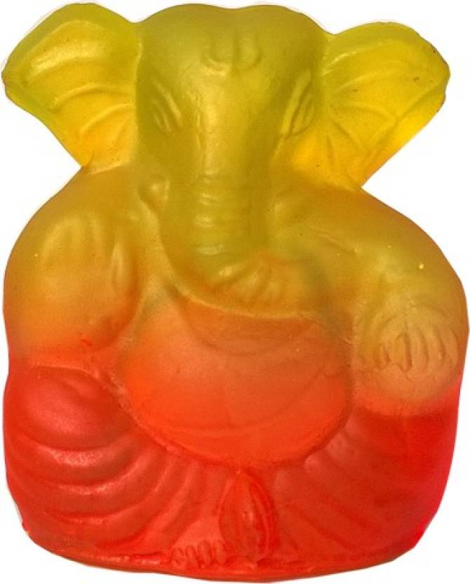 Mann Retails Ganesha Mold orange Decorative Showpiece - 6 5 cm Price