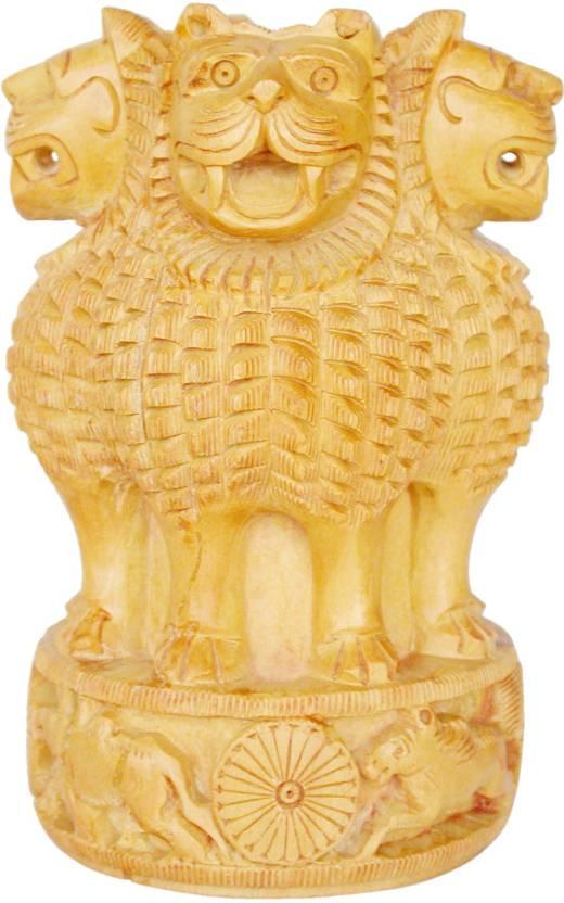 Jindalcrafts Ashokstambh Hand Carved Ashoka Pillar National Emblem