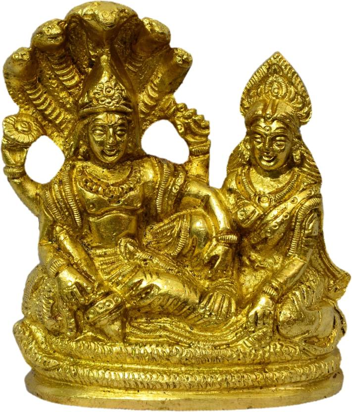 a378c12ecb0 Craftcart Lakshmi Narayan (Lakshmi Vishnu) Brass Idol Decorative Showpiece  - 11 cm (Brass