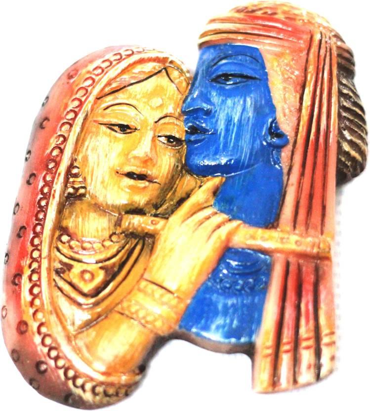 SrinidhiHandiCreations Radha Krishna Wall Decor Decorative Showpiece ...