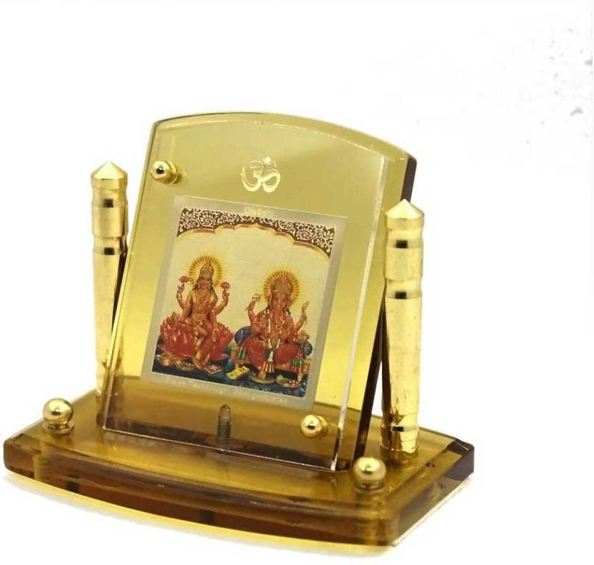 Sitare Ganesh Laxmi Diviniti Photo Frame 24ct Gold Plated Decorative