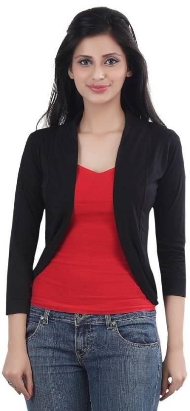 Bfly Women s Shrug - Buy Black Bfly Women s Shrug Online at Best ... 4719d07f8