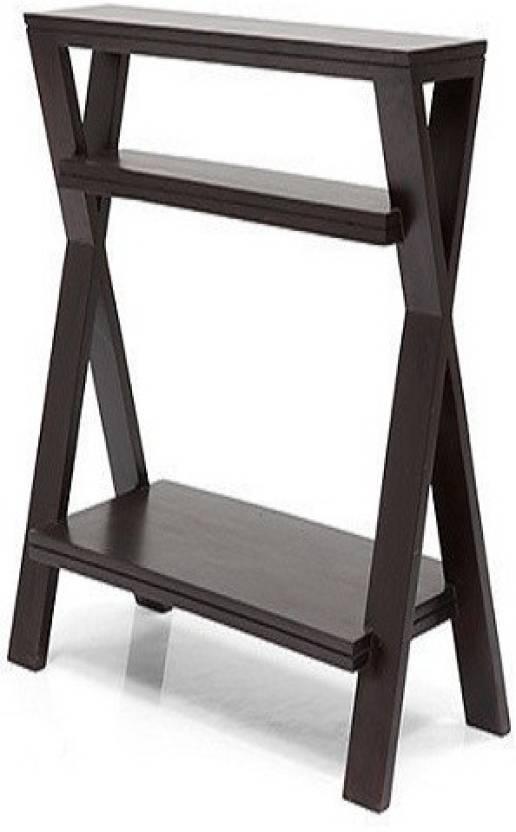 Ringabell Angular Style Solid Wood End Table Finish Color   Mahogany   Teak