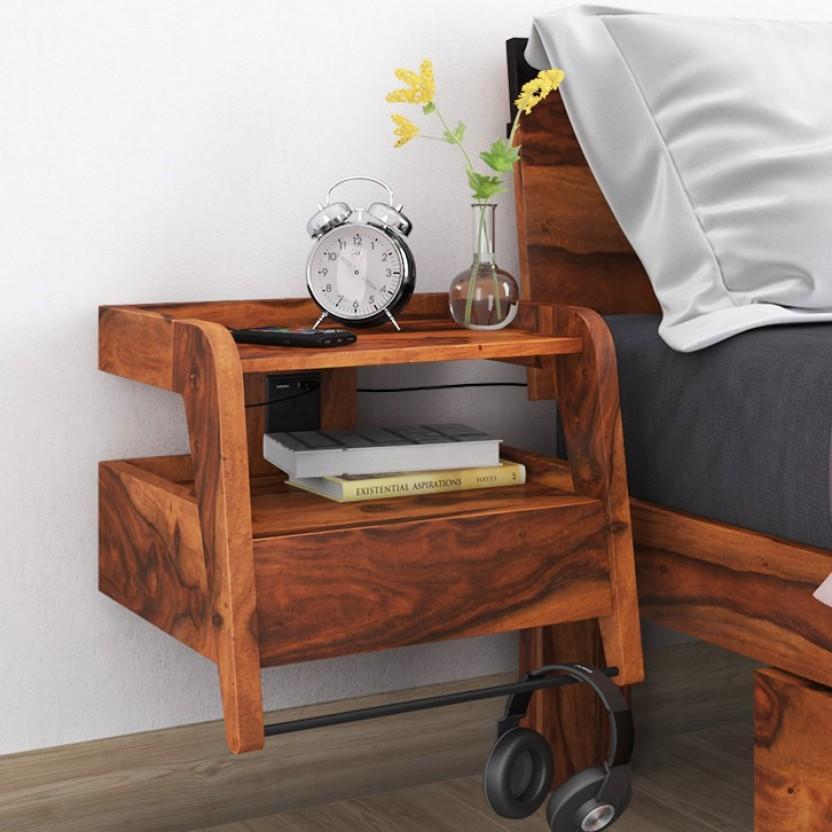 Urban Ladder Odessa Solid Wood Bedside Table
