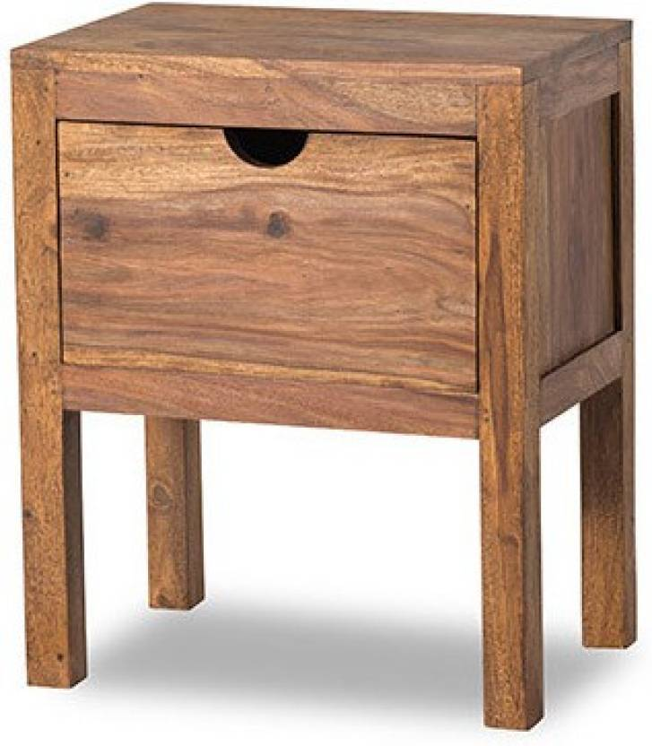 Smart Choice Furniture Rosewood Sheesham Jibs12 Matte Finish Solid Wood Bedside Table
