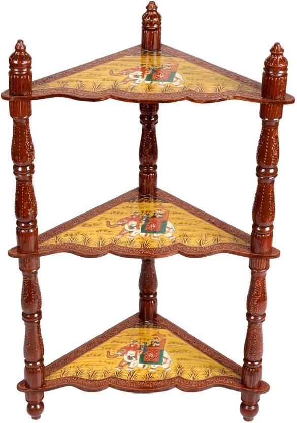 Rajrang Kingsland Solid Wood Corner Table Finish Color   Multi Color