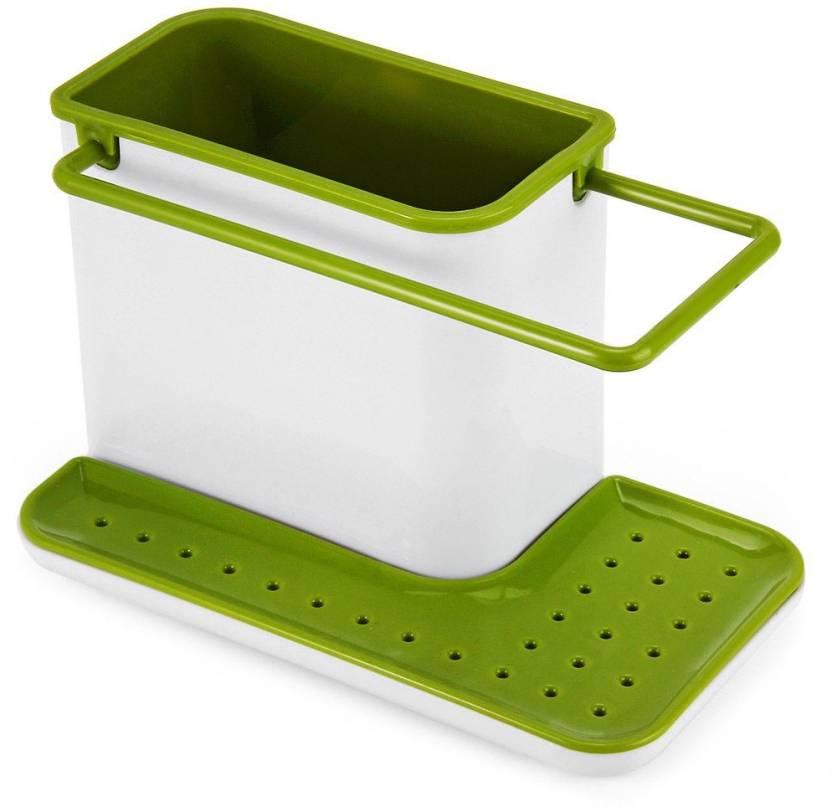 Evana Kitchen Sink Dishwasher Liquid Brush Sponge Soap Holder Stand