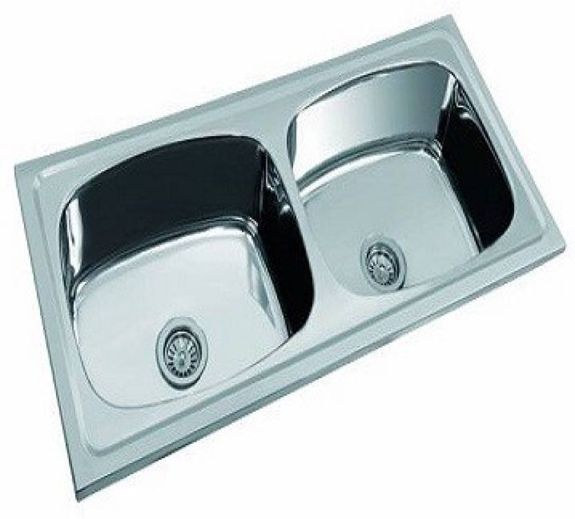 Brilliant Vinod 45 20 8 Double Bowl Sink Db202 Kitchen Sink Price In Interior Design Ideas Truasarkarijobsexamcom
