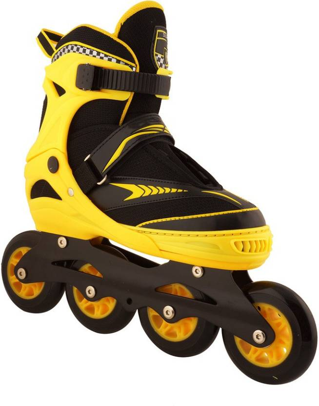 936814c497f5 Xerobic Adjustable Bladerunner PRO 80 Suxfly 90-100 MM Wheels with 6Pcs  Skating Set In-line Skates - Size 7-8 UK (Yellow)