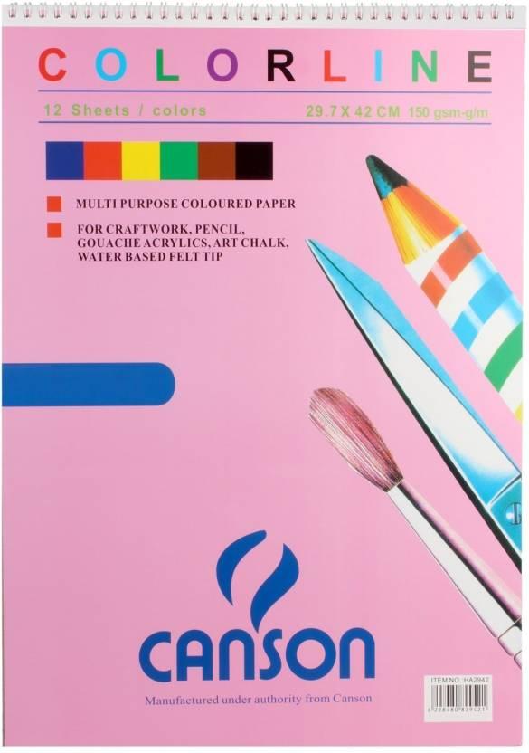 canson 150 gsm multipurpose art craft colored paper 29 7 x 42cm