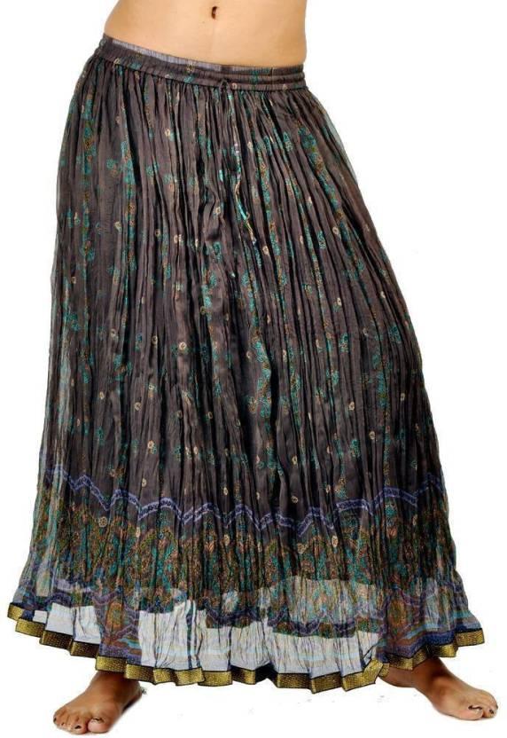 9b1be4aeeb Sunshine Rajasthan Printed Women's Regular Brown Skirt - Buy Brown Sunshine  Rajasthan Printed Women's Regular Brown Skirt Online at Best Prices in India  ...
