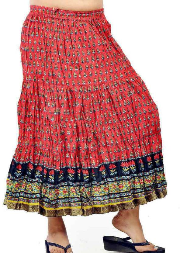 7bf7bf1873 Tradition India Printed Women's Straight Red Skirt - Buy Red-Black  Tradition India Printed Women's Straight Red Skirt Online at Best Prices in  India ...