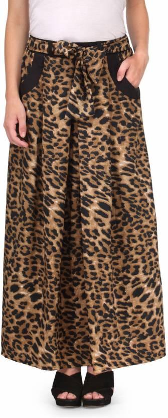 f230f97577 Natty India Animal Print Women's Straight Brown Skirt - Buy Brown ...