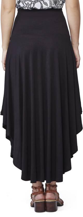 AND Solid Women's A-line Black Skirt