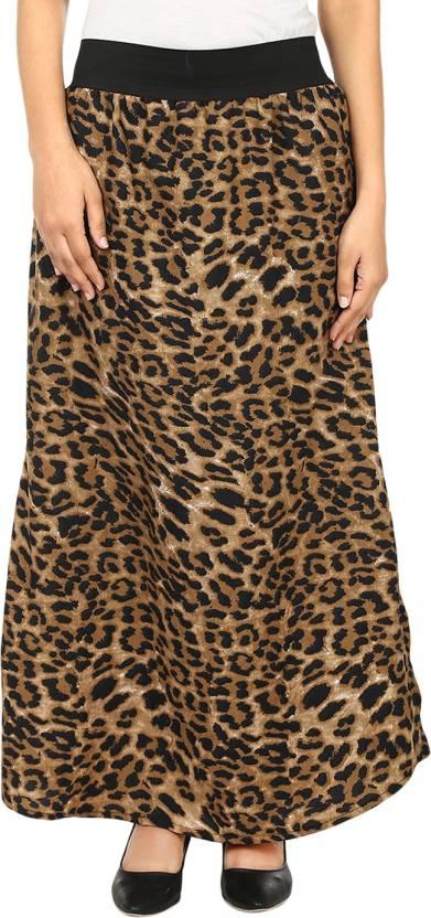 175f18ca16 Natty India Animal Print Women's A-line Black, Brown Skirt - Buy ...