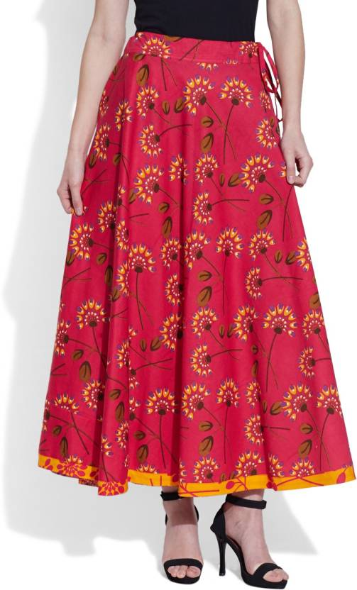 4c20848763 Very Me Printed Women's Pleated Pink Skirt - Buy Pink Very Me Printed  Women's Pleated Pink Skirt Online at Best Prices in India   Flipkart.com