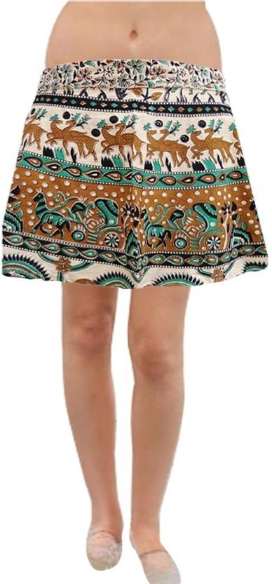 a1c367150e Pezzava Printed Women's Wrap Around Multicolor Skirt - Buy Multi Color  Pezzava Printed Women's Wrap Around Multicolor Skirt Online at Best Prices  in India ...