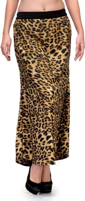 98583f98c3 Natty India Animal Print Women's Straight Brown, Black Skirt - Buy ...