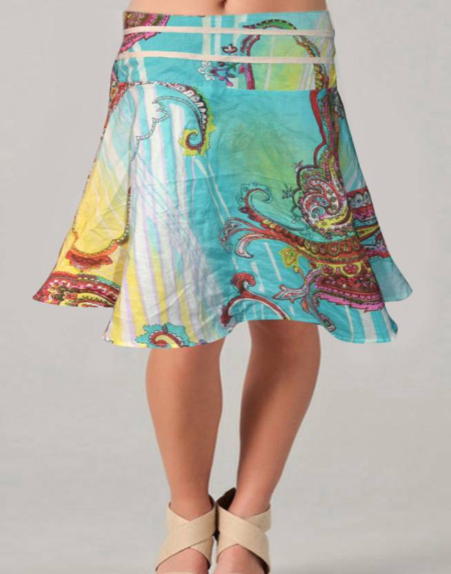 Vivaa Printed Women's Wrap Around Multicolor Skirt
