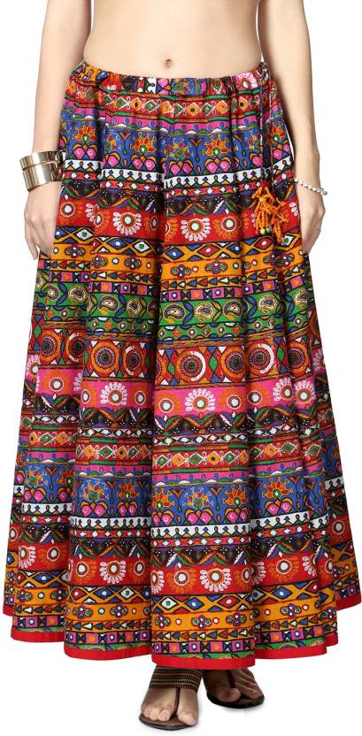 d36ff5ee6 Akkriti by Pantaloons Printed Women's Gathered Red Skirt - Buy Red Akkriti  by Pantaloons Printed Women's Gathered Red Skirt Online at Best Prices in  India ...