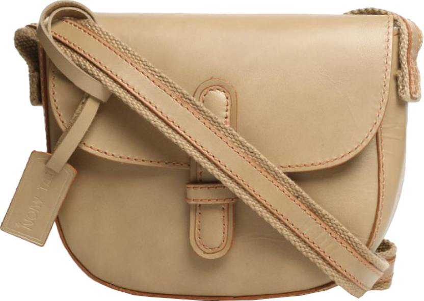 1802697a243f Ivory Tag Women Casual Beige Genuine Leather Sling Bag Cream - Price in  India