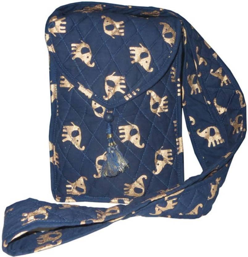 Needlecrest Women Casual Blue Cotton Sling Bag