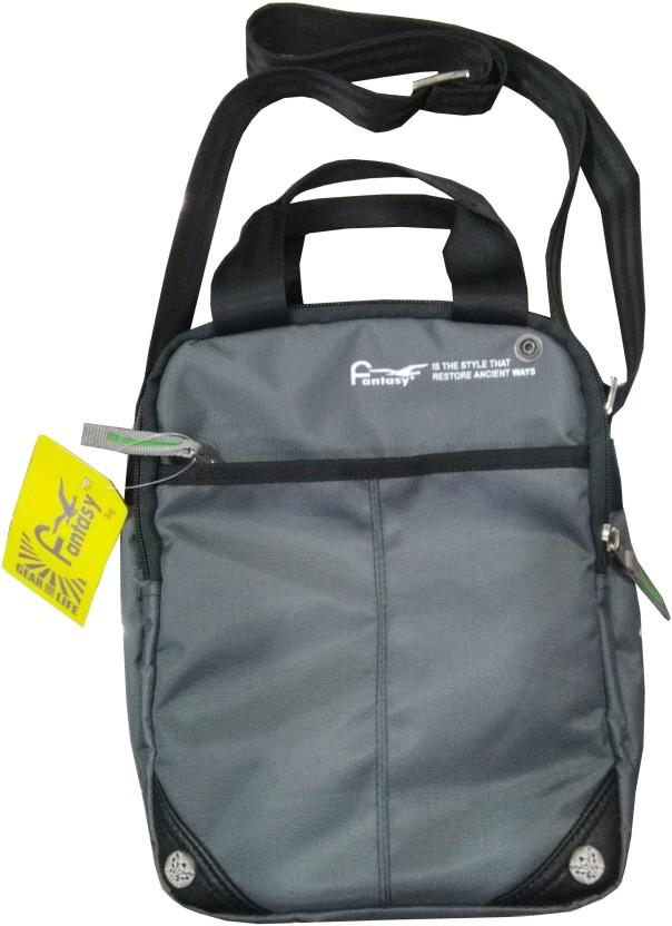 Fantasy Bag Men U0026 Women Grey Nylon Sling Bag