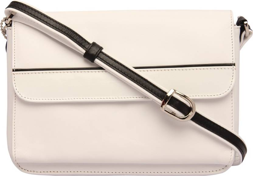 c35497727c50 Supreme Leather Women Casual White Genuine Leather Sling Bag White - Price  in India
