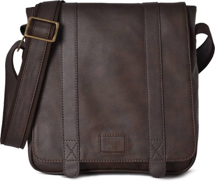 Baggit Men Brown Rexine Sling Bag
