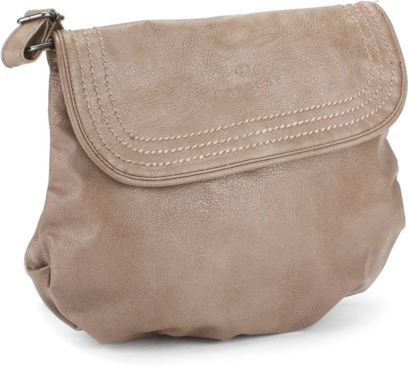 3d2d831ff78 Caprese Women Casual Brown Sling Bag Tan - Price in India