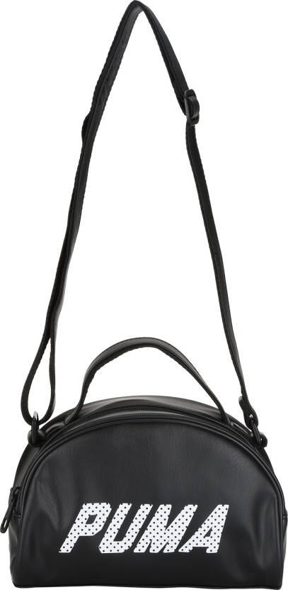Puma Women Casual Black PU Sling Bag Black - Price in India ... 65361de5ec4c9
