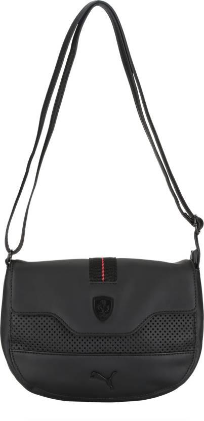 e16d2a2dfa Puma Women Casual Black PU Sling Bag Black - Price in India ...