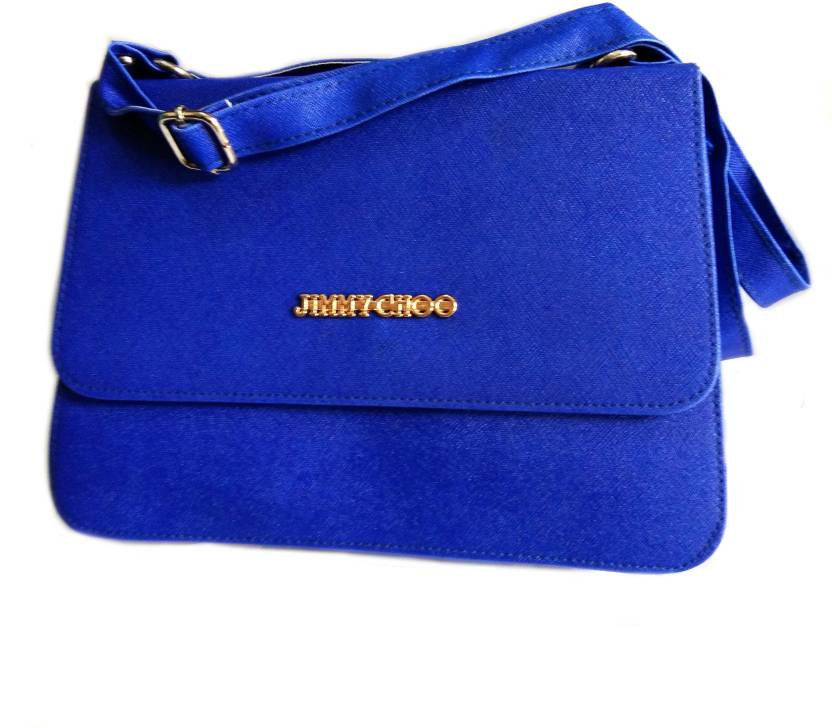 7398288d604 Jimmy Choo Women Blue Leatherette Sling Bag ROYALBLUE - Price in India    Flipkart.com
