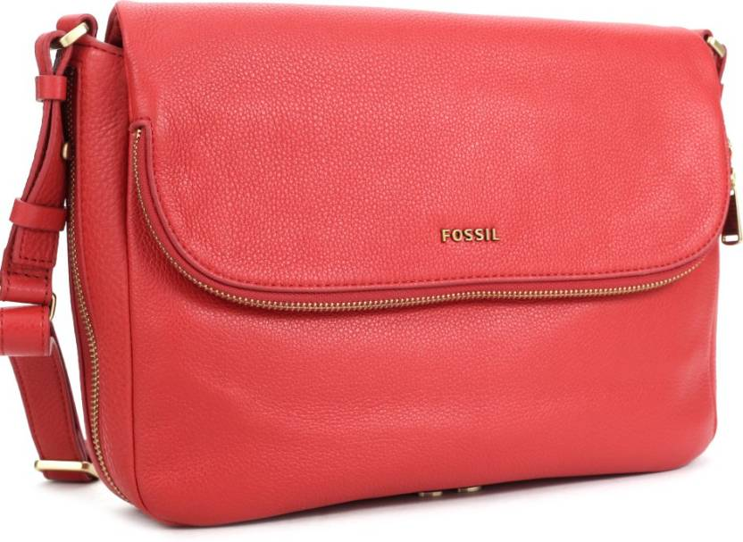 Fossil Women Casual Red Genuine Leather Sling Bag Real red - Price in India   4bacd2b8c5817